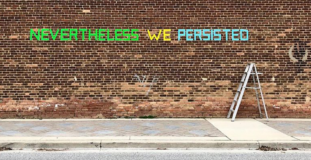 Artist uses duct tape to spread messages of hope through Toronto