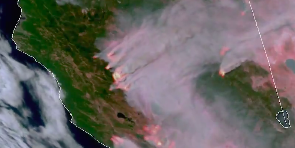 The terrifying view of California's wildfires from space (VIDEOS)