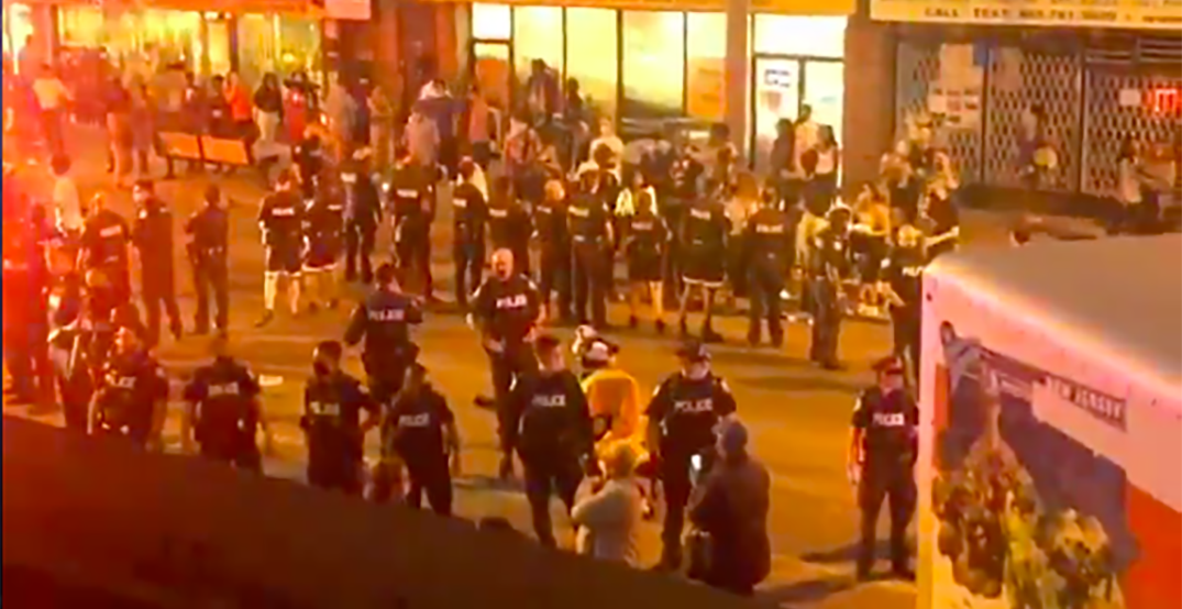 Multiple police officers hospitalized after fight breaks out during demonstration (VIDEO)
