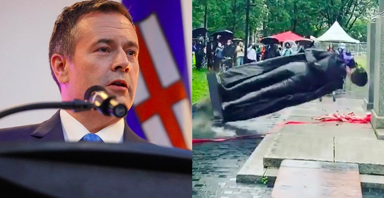 Premier Kenney wants Montreal to send John A. Macdonald statue to Alberta
