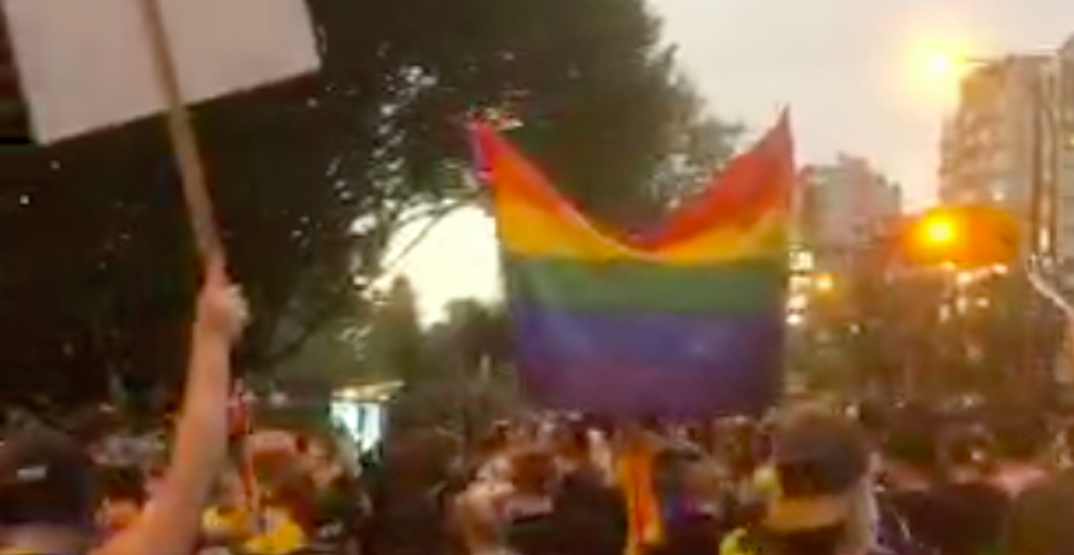 Anti-gay preacher from Toronto greeted with protests at Sunset Beach (VIDEOS)