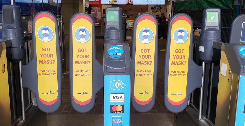 translink mandatory mask policy fare gate