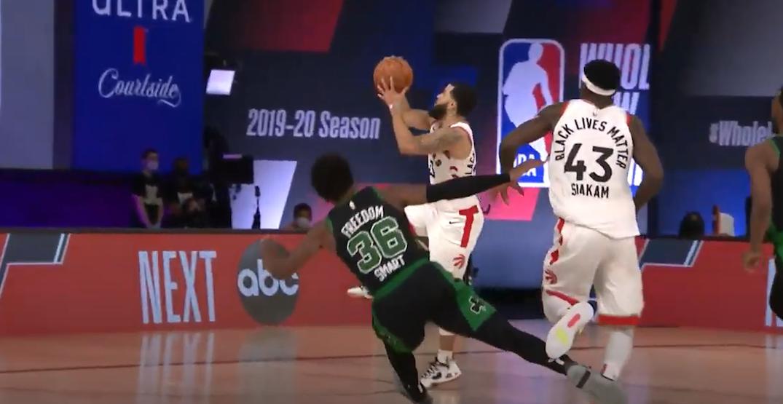 NBA fines Celtics' Smart $5K for ridiculous flop vs Raptors