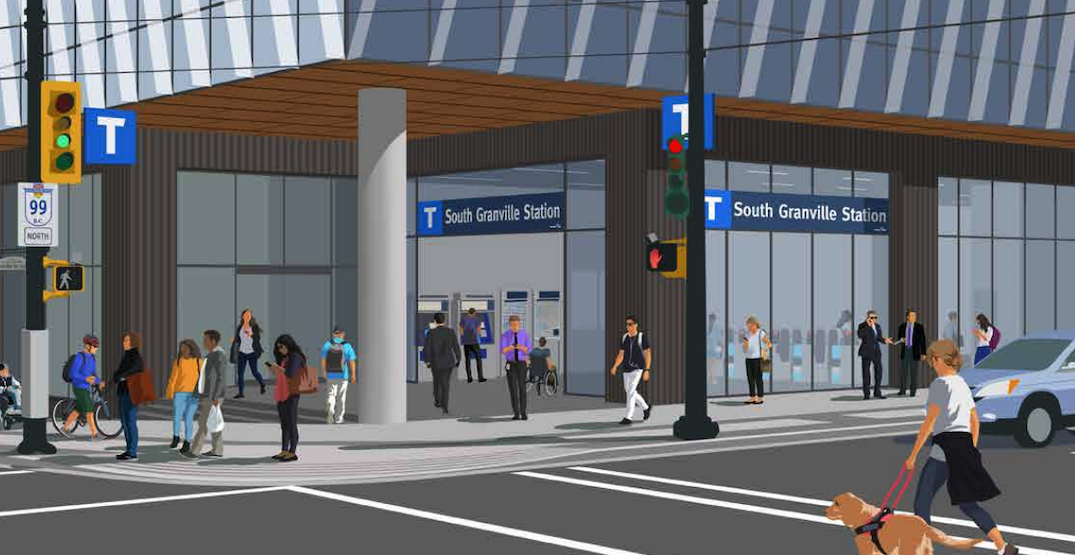 broadway subway skytrain south granville station