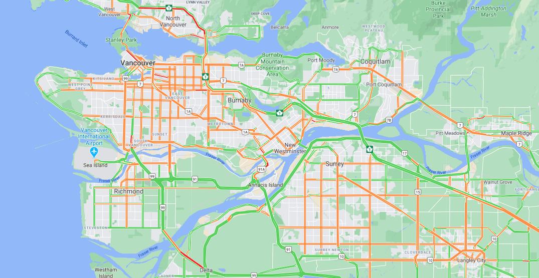 Metro Vancouver roads near pre-pandemic traffic volumes: statistics