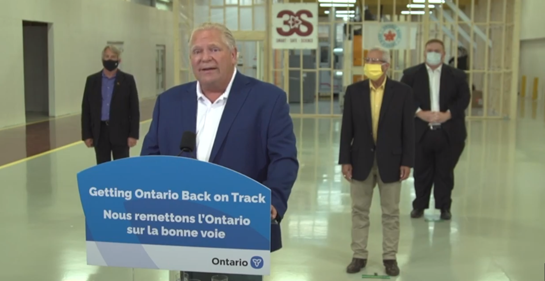 """Ford urges Ontario not to share """"doobies"""" or drinks this long weekend"""