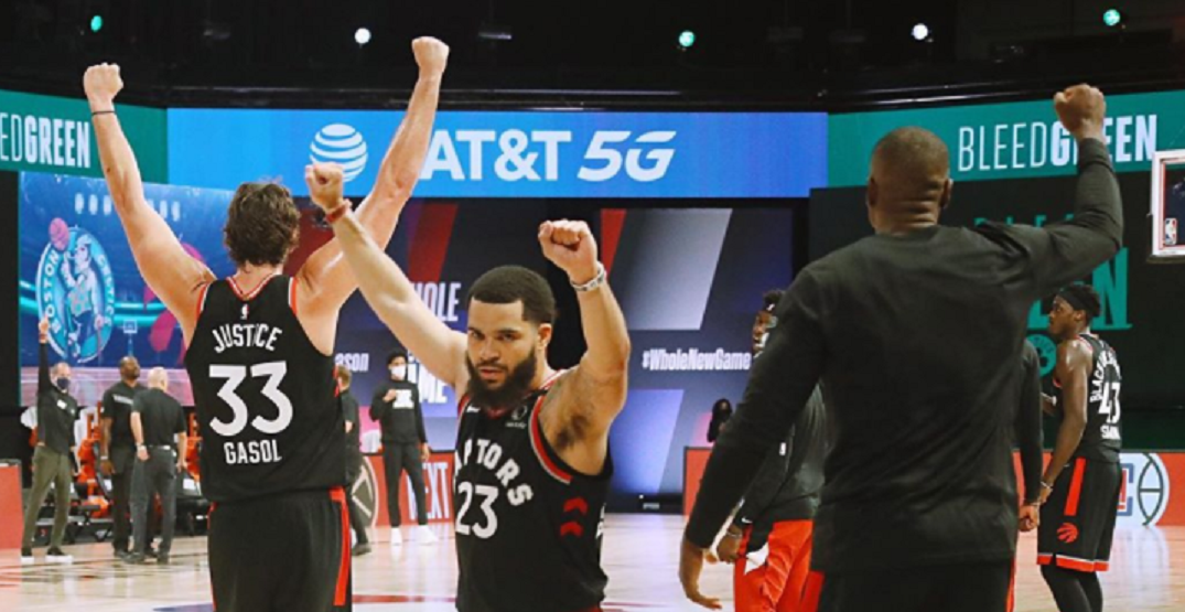 Raptors win again, tie up playoff series with Celtics
