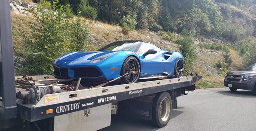 Ferrari impounded after going more than 100 km/h over speed limit