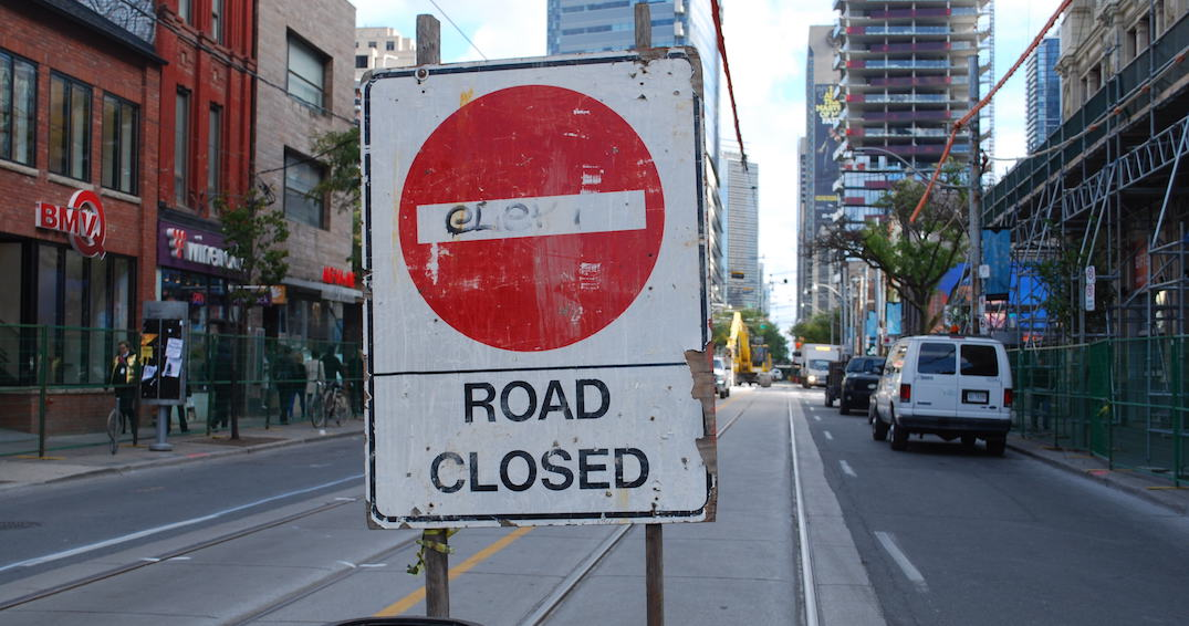 All the road closures taking place during TIFF