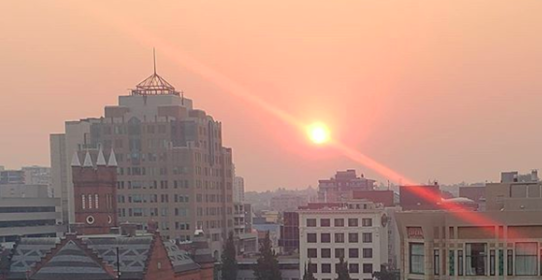 Smoke from US wildfires appears in BC on Tuesday (PHOTOS)