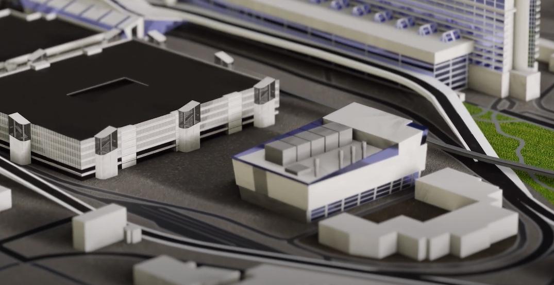 vancouver international airport new parkade geothermal exhcange core program rendering