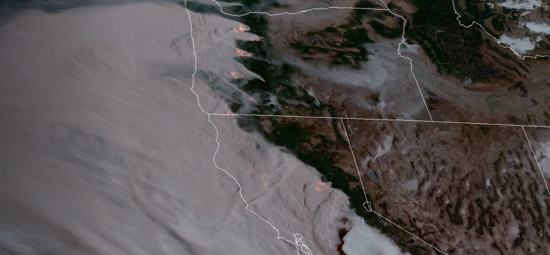 West Coast wildfires as can be seen from space (PHOTOS)