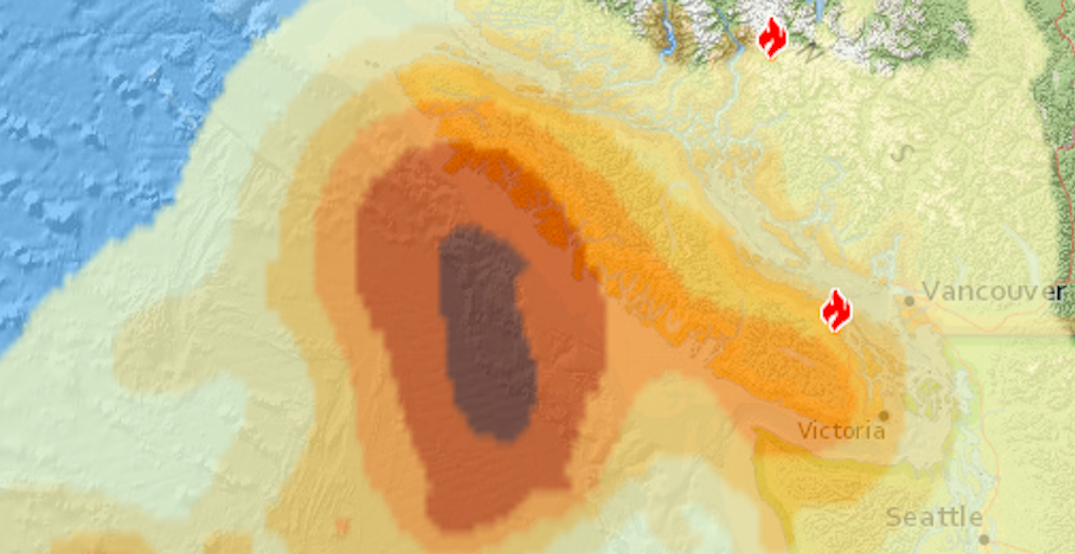 Here's how much smoke is expected to cover Metro Vancouver today