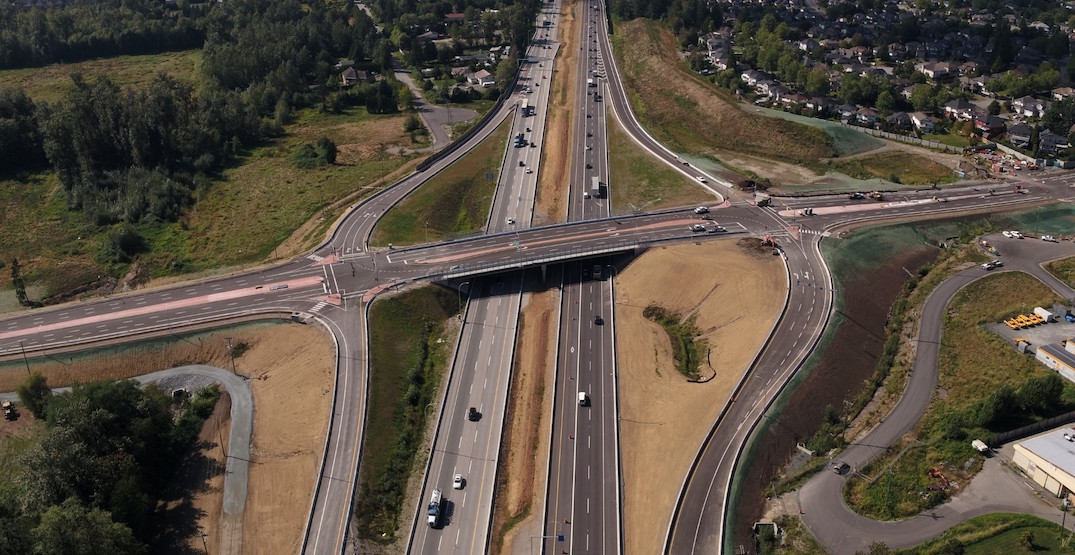 New 216th Street interchange on Highway 1 in Langley reaches completion