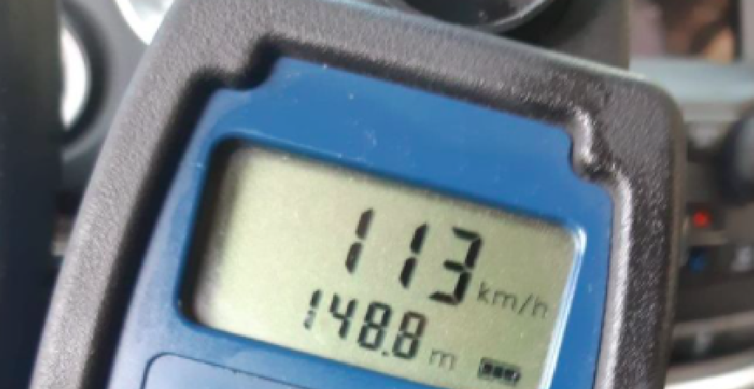 "Abbotsford driver with ""N"" licence caught doing 113 km/h in school zone"