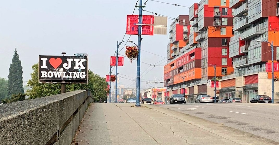 J.K. Rowling billboard taken down in Vancouver after facing backlash