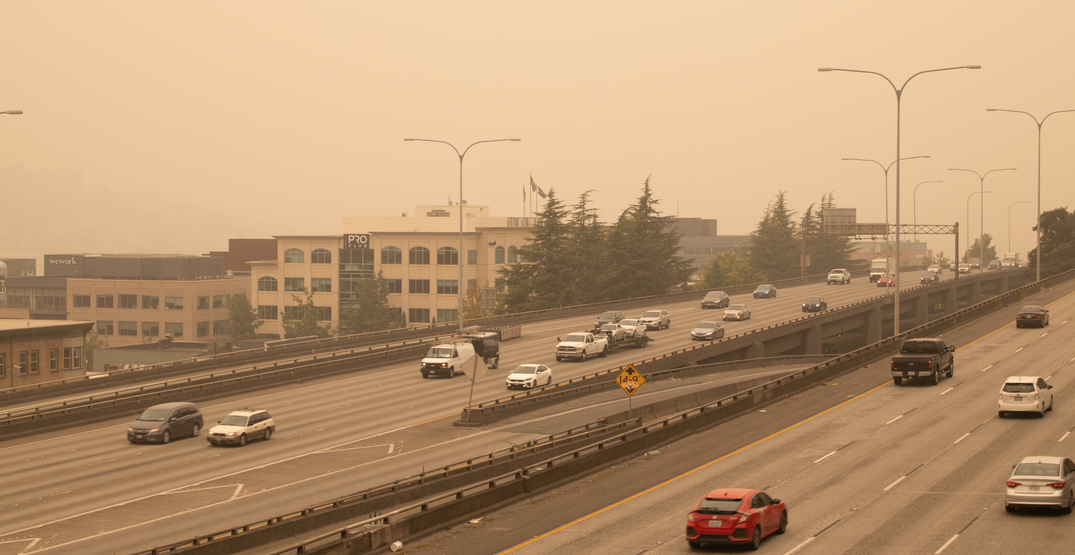 The smoky air in Seattle may be sticking around another week
