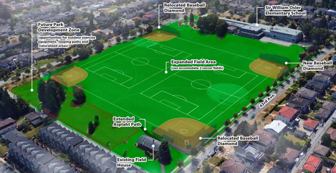 Vancouver Westside park to see renovations with added playing fields