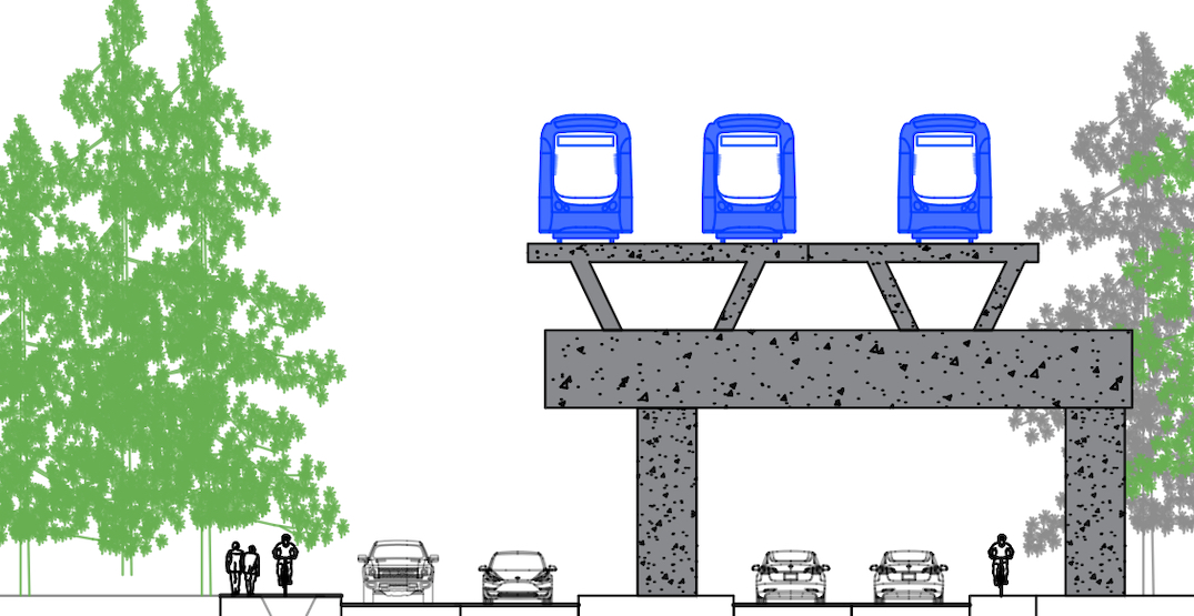 SkyTrain project includes four-lane widening of Fraser Highway in Green Timbers