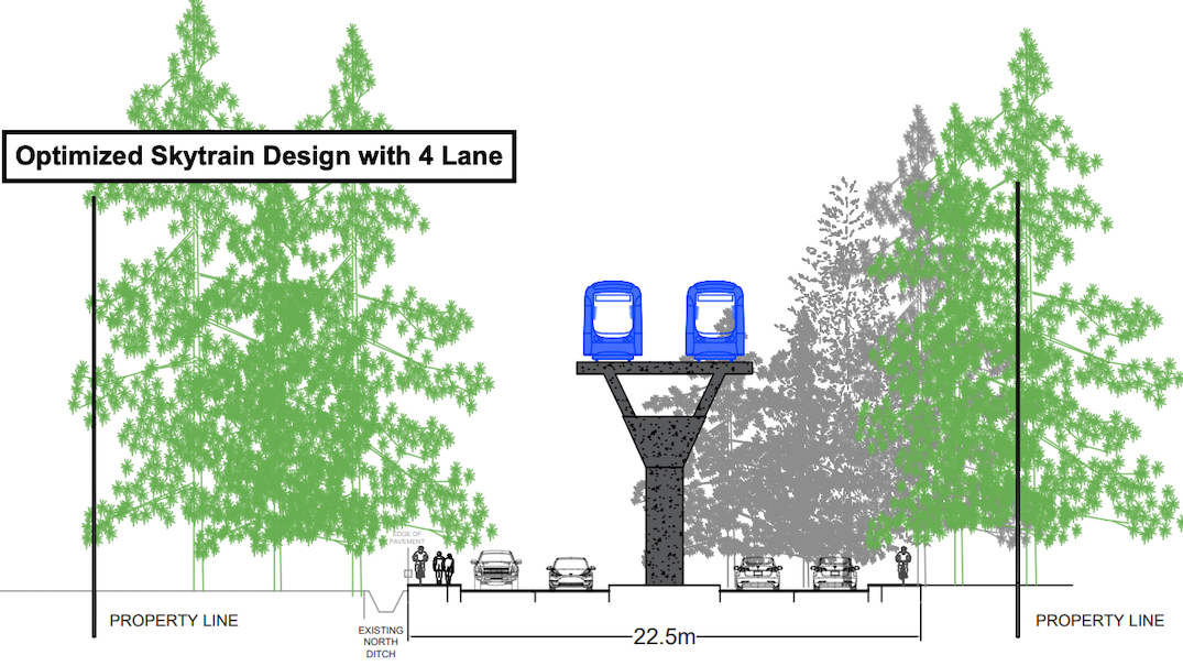 skytrain fraser highway widening green timbers