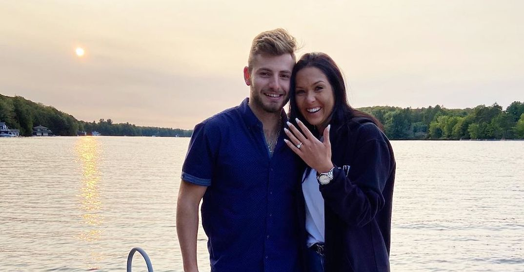 Canadiens defenceman surprises girlfriend with lakeside proposal (VIDEO)