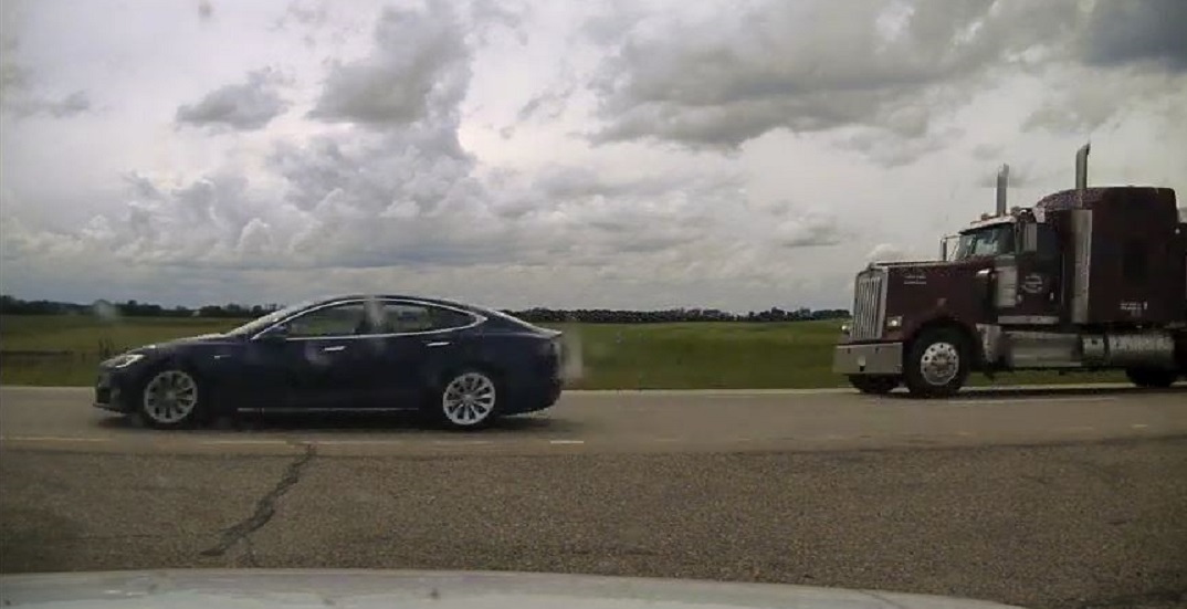 20-year-old Canadian driver charged for sleeping, speeding in self-driving Tesla