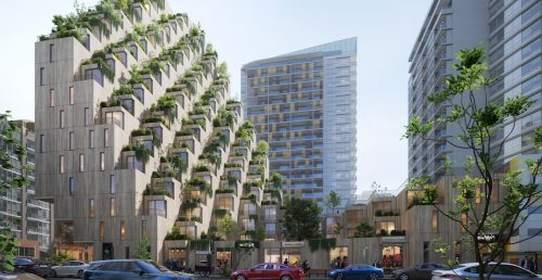 Mass timber terraced tower concept envisioned for North Vancouver (RENDERINGS)   Urbanized
