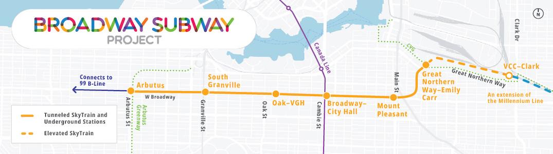 broadway subway skytrain millennium line station map names