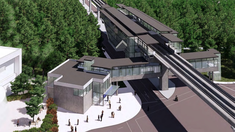 140 street station fraser highway surrey langley skytrain expo line