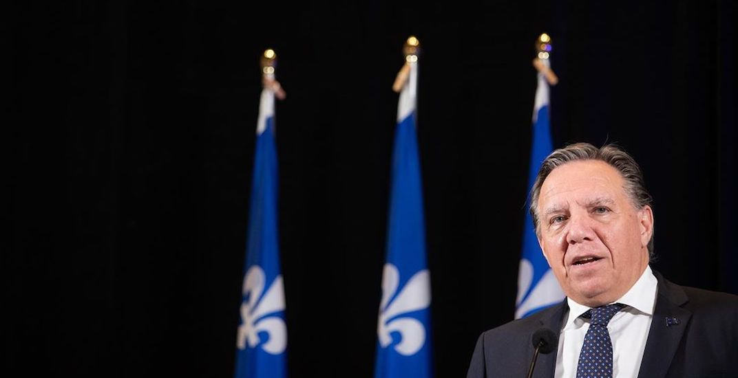 François Legault will remain in isolation throughout the week