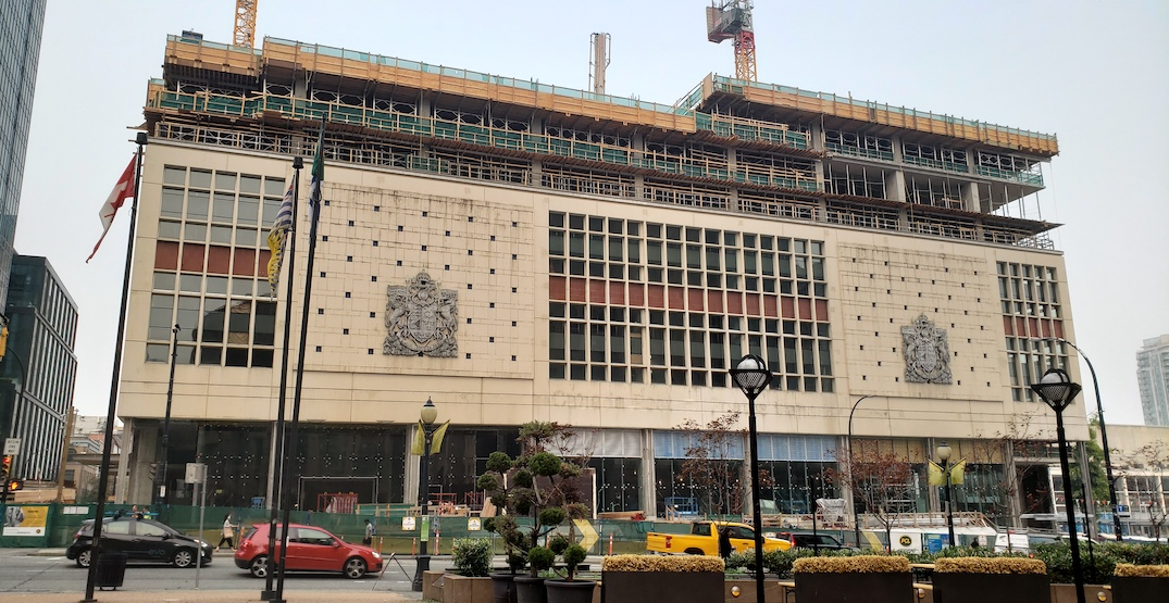 Amazon's new Vancouver office taking shape at old Canada Post building (PHOTOS)