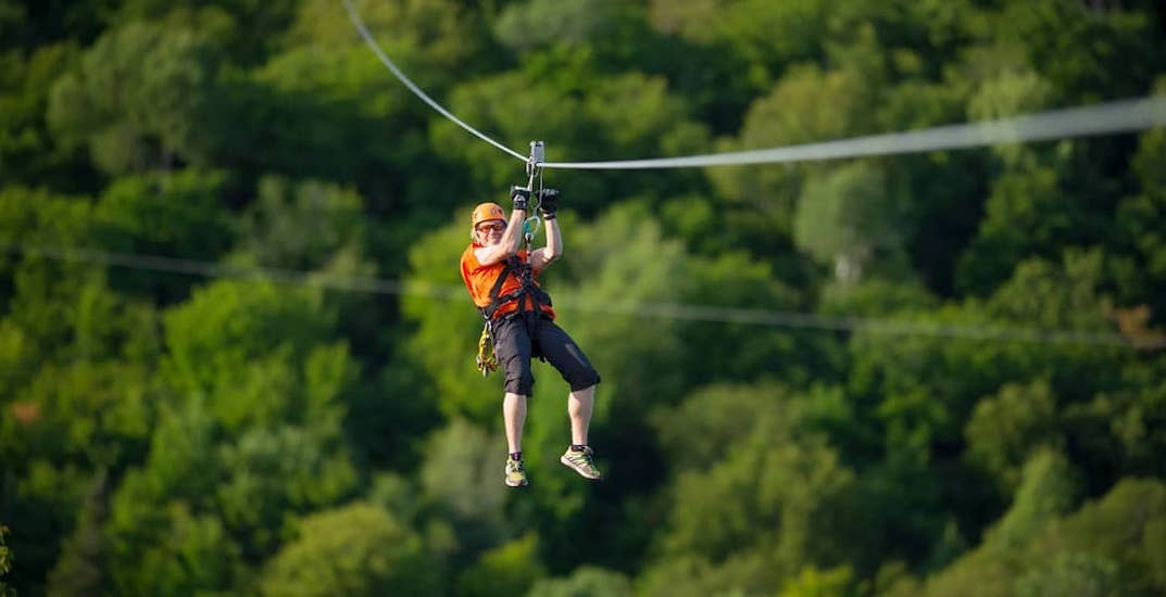 You can take a 300-foot high zipline ride across Quebec