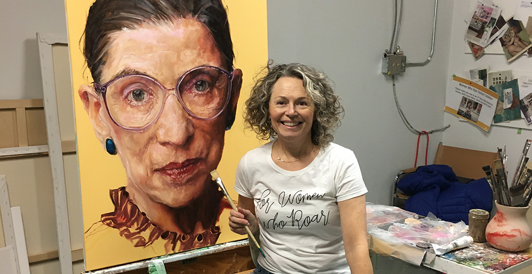This iconic Ruth Bader Ginsburg TIME cover was painted by a Canadian