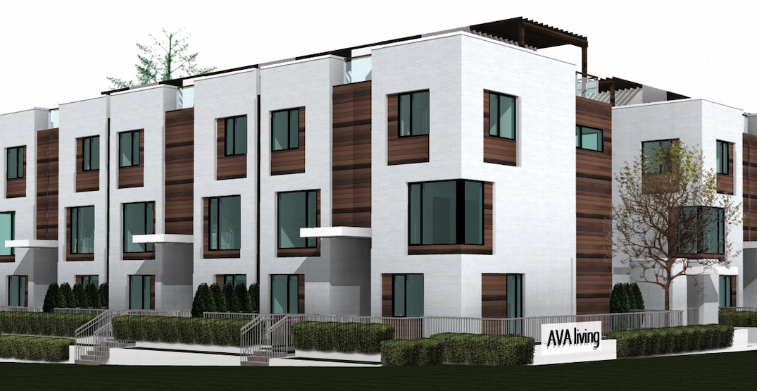 Contemporary townhouses proposed near Royal Oak Station
