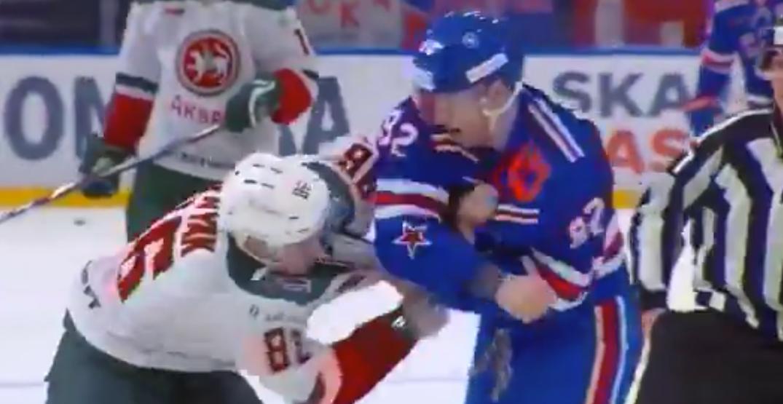 Canucks prospect Podkolzin gets in second career KHL fight (VIDEO)