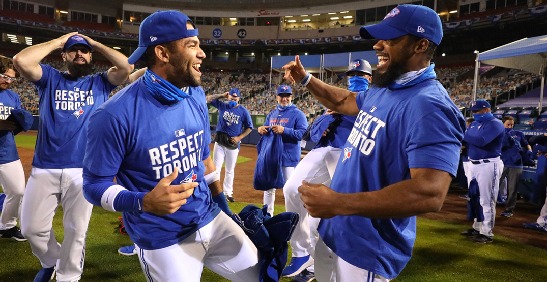 All the best Blue Jays playoff-clinching celebration videos