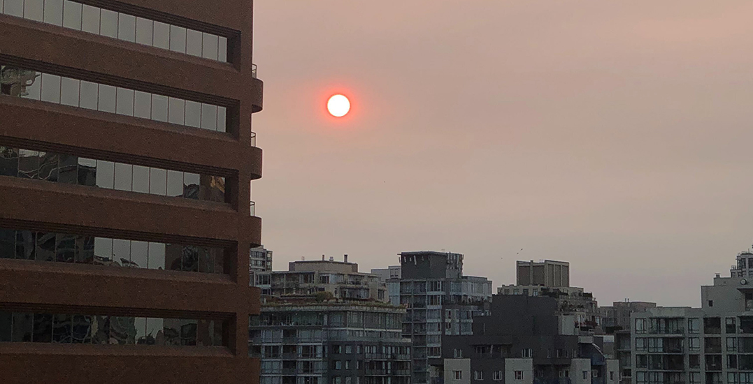 US wildfire smoke prompts hazy skies, red sun in Metro Vancouver (PHOTOS)