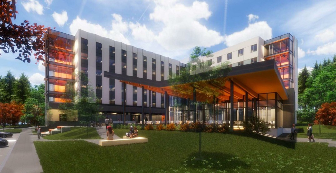 New renderings of Capilano University's first on-campus student housing building