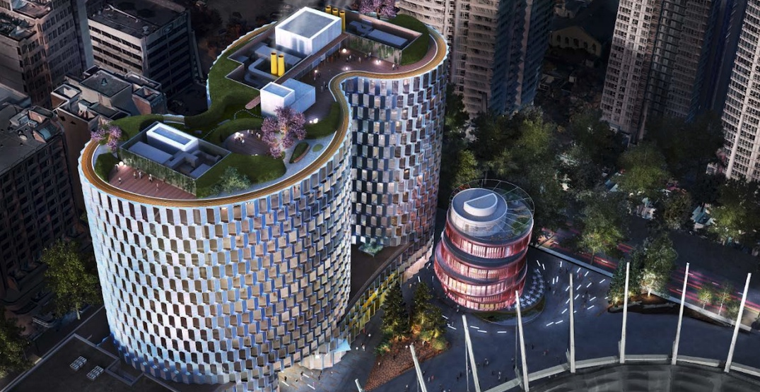 New BC Place office tower with entertainment pavilion approved by City Council