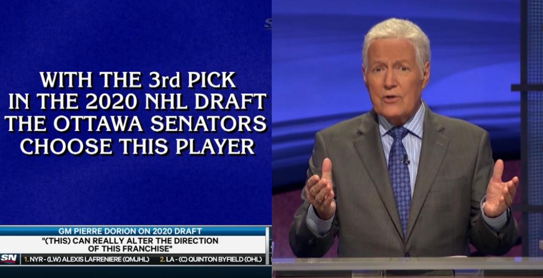 Alex Trebek announces NHL draft pick in perfect Jeopardy! fashion (VIDEO)