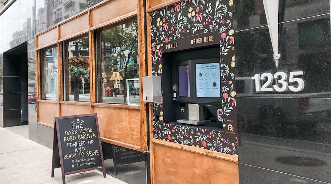 Canada just got its first robotic cafe serving contactless coffee outdoors
