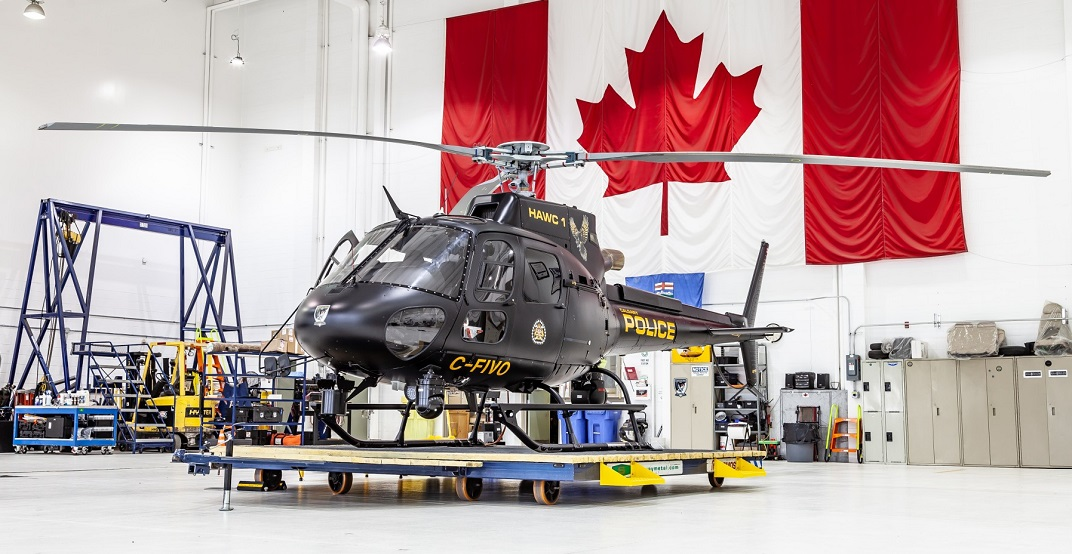 The Calgary Police Service just got a brand new helicopter