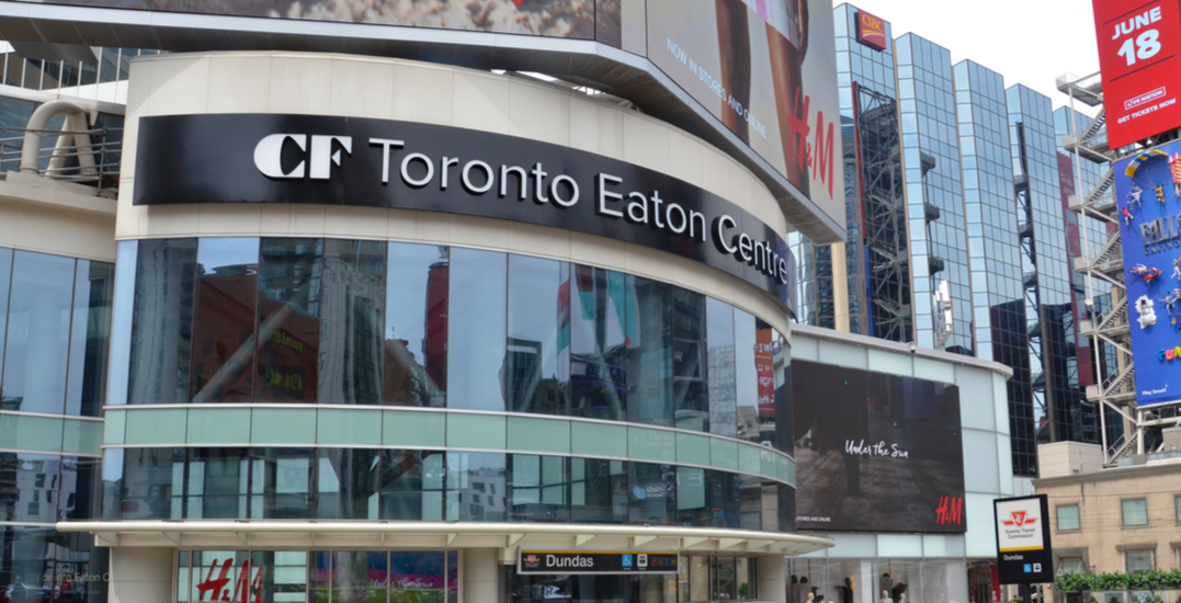 Two people charged with assault after anti-vaccine protest at the Eaton Centre