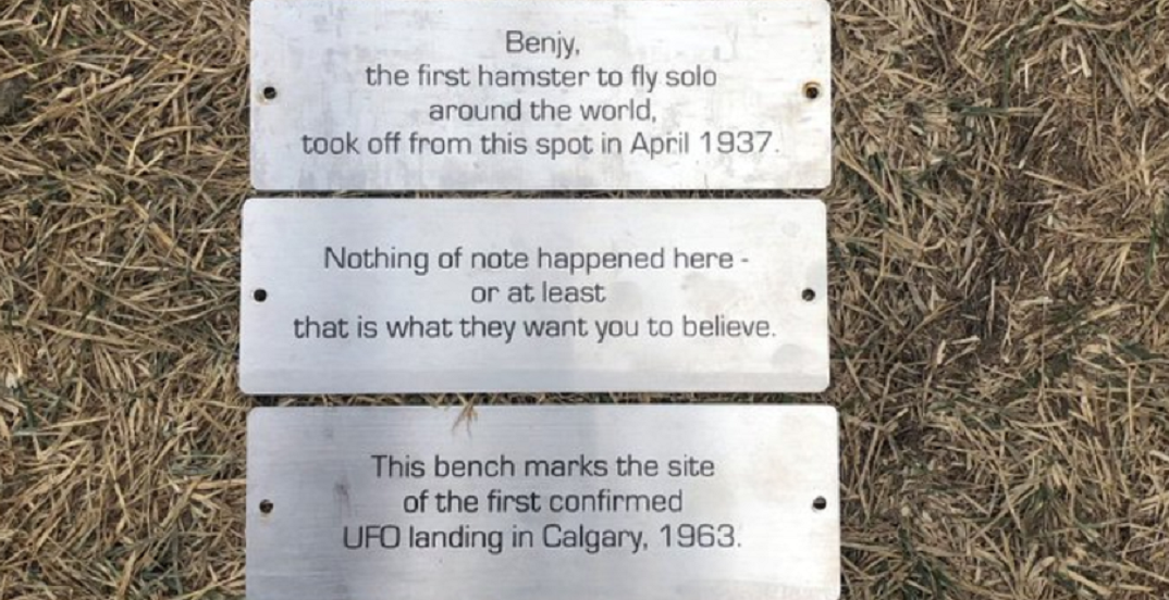The City of Calgary has reinstalled the prank plaques at Bowmont Park