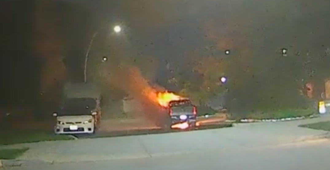 Police investigating after vehicles, tent with people inside set on fire (VIDEO)