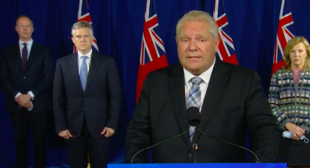 Ford to make announcement after Ontario reports record-breaking COVID-19 cases