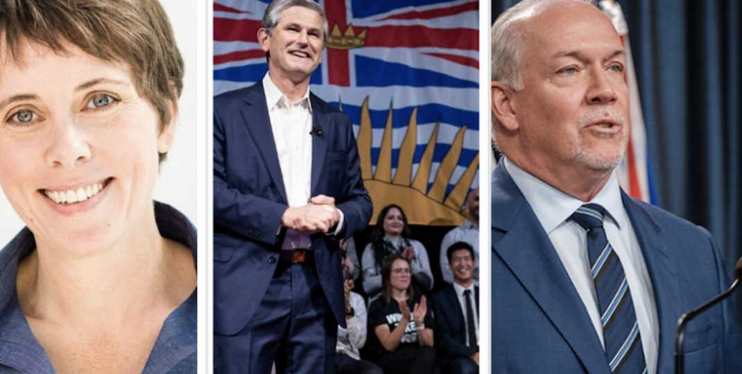BC's three main political parties clash on pandemic response, recovery