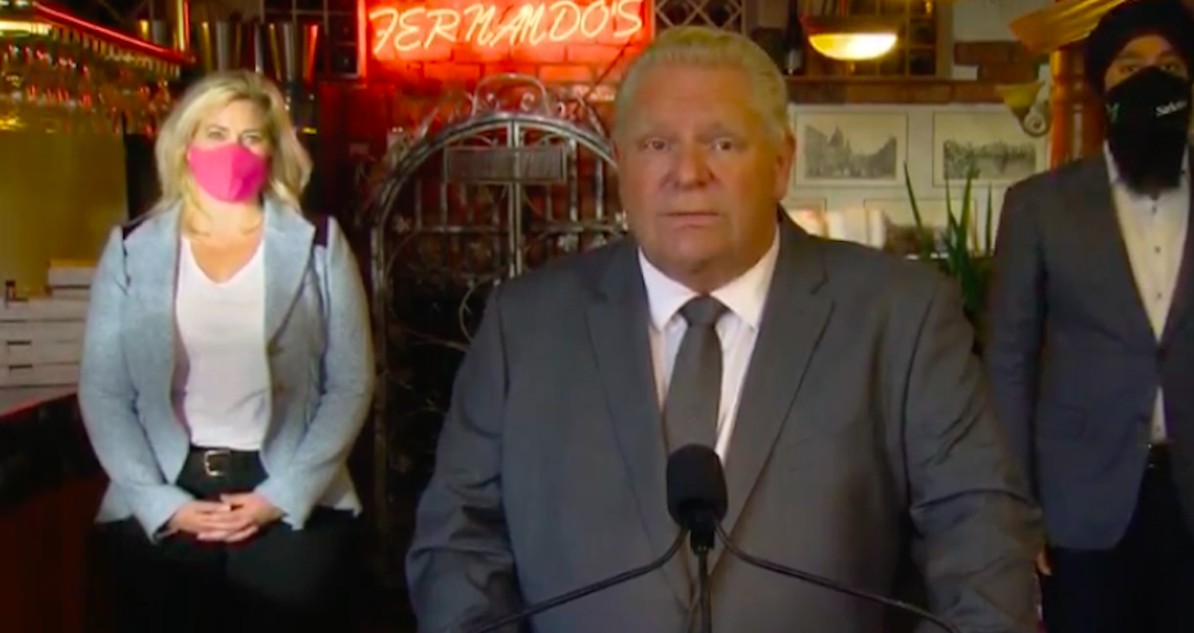 Ontario investing $300M for restaurants after temporary closure of indoor dining