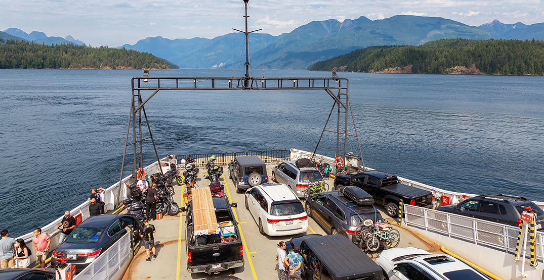Someone drove off a ferry loading ramp in the BC Interior