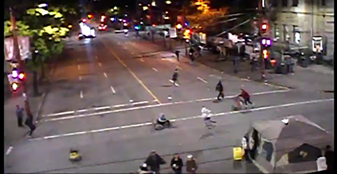 Police brutality protesters camped out at Main and Hastings